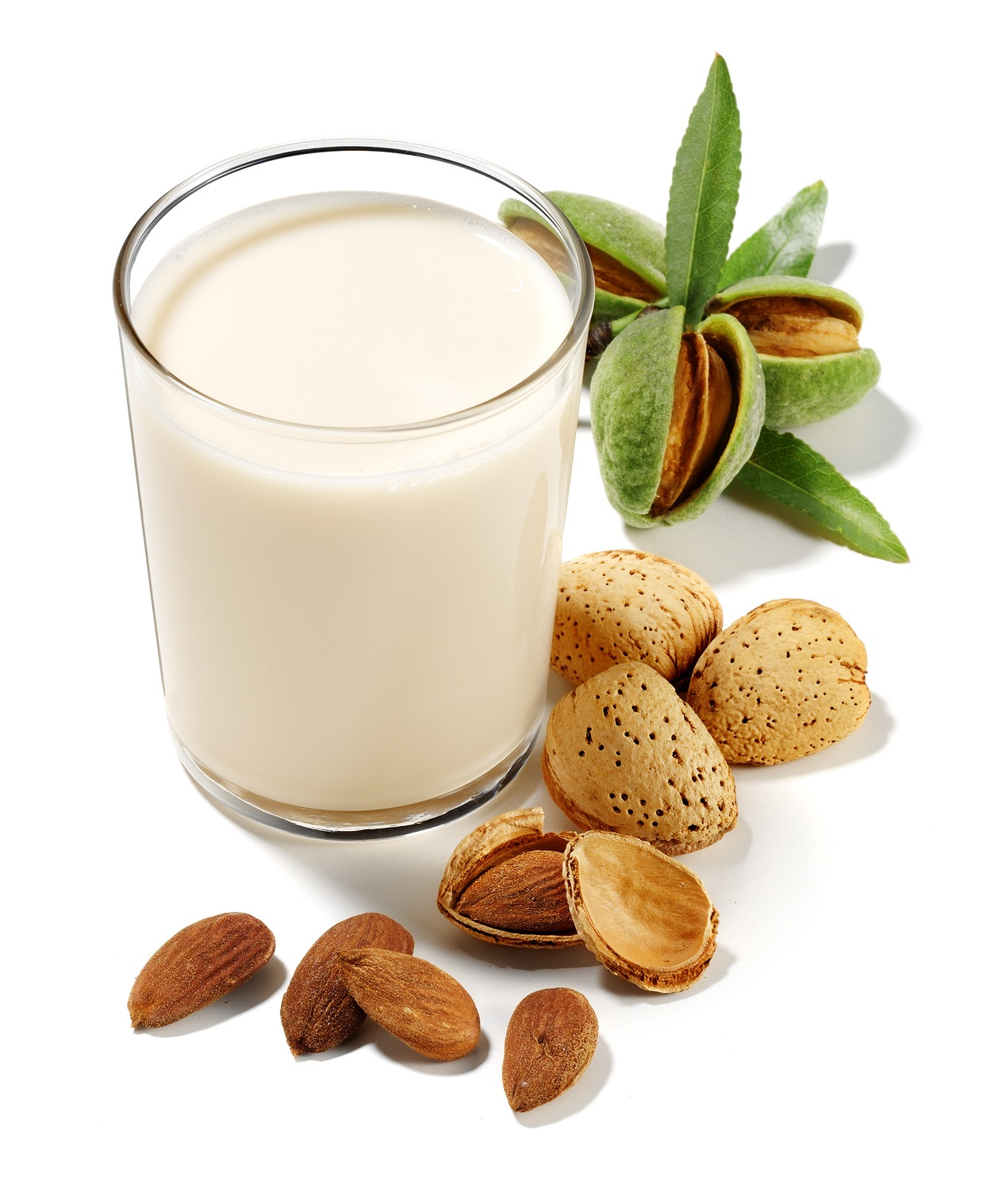 almonds drink isolated