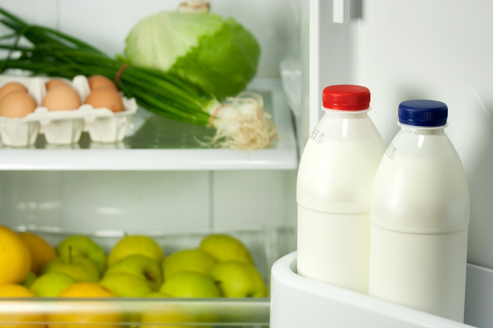 Refrigerator with healthy food