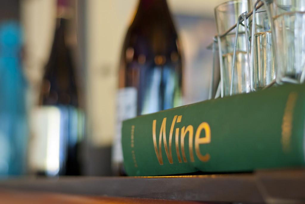 Wine Book Sitting On A Shelf In A Nice Restaurant