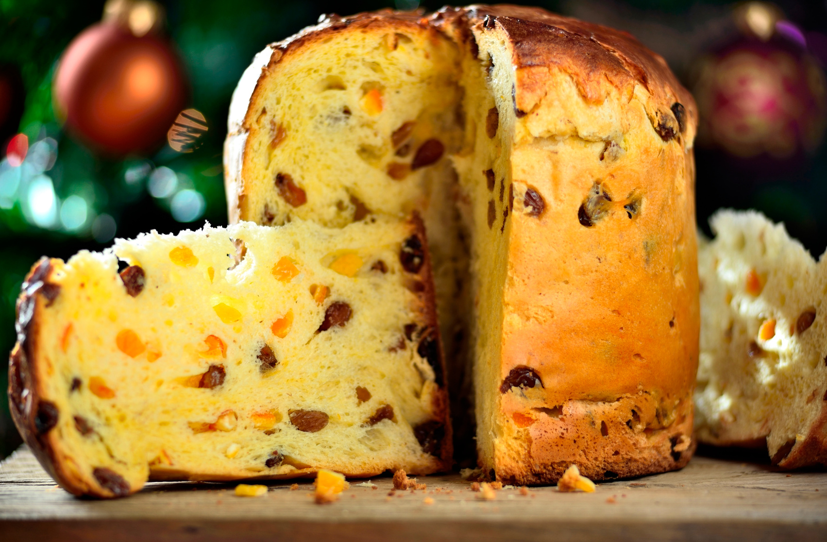 Panettone traditional italian cake.Typical italian food